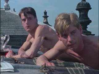 Jeremy Irons as Charles Ryder and Anthony Andrews as Sebastian Flyte - good friends!