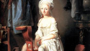 Louis-Léopold Boilly, La Toilette Intime ou la Rose Effeuille. Late 18th century.