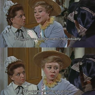 the mom Winifred is a suffragette - kind of a throwaway character, but her one song has some funny lines