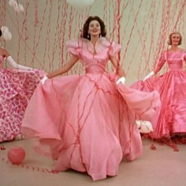 "from 1957's ""Funny Face,"" OTT 'think pink' opening scene"