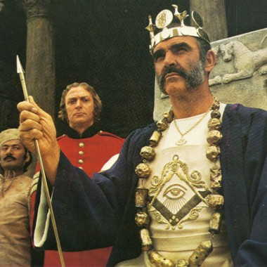 "Sean Connery in ""The Man Who Would Be King,"" 1975's take on the Middle East in the 1880s"