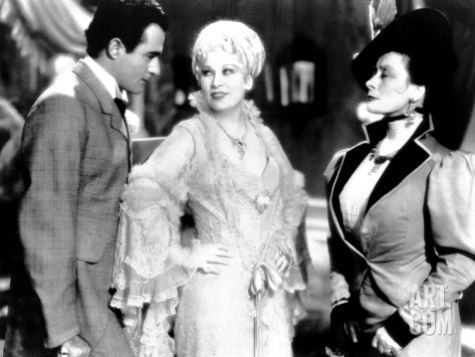 "Mae West in ""She Done Him Wrong,"" 1933s version of 1890s"