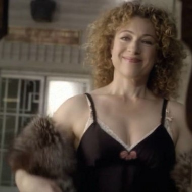 Naughty River Song in the mirror.