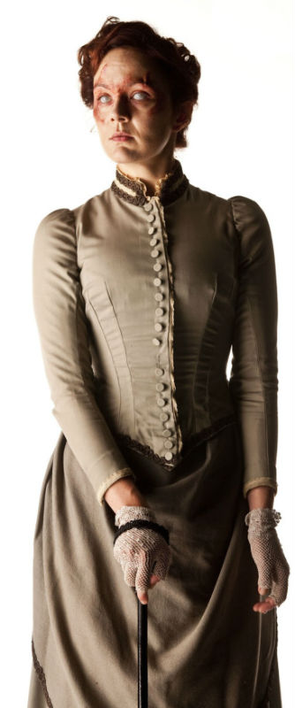 Rachel Stirling as Ada in an 1880s outfit.