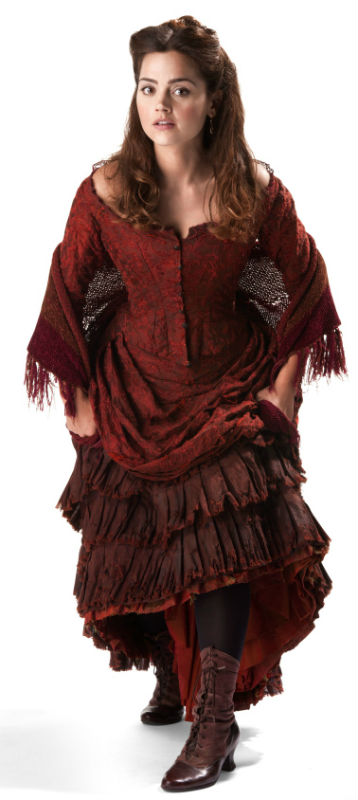 "Clara's Victorian tavern outfit from ""The Snowmen."""