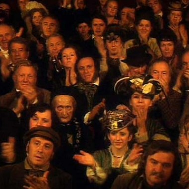 "Crowd scene from ""The Unquiet Dead"""