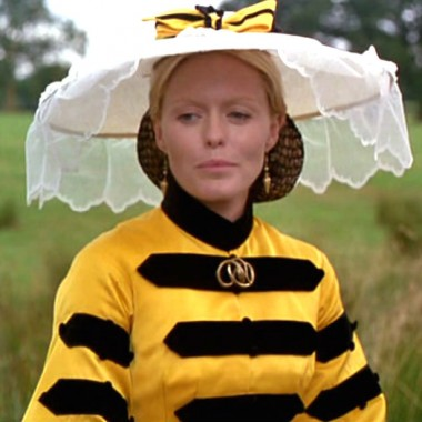 A bee-keeper-esque hat to match the dress.