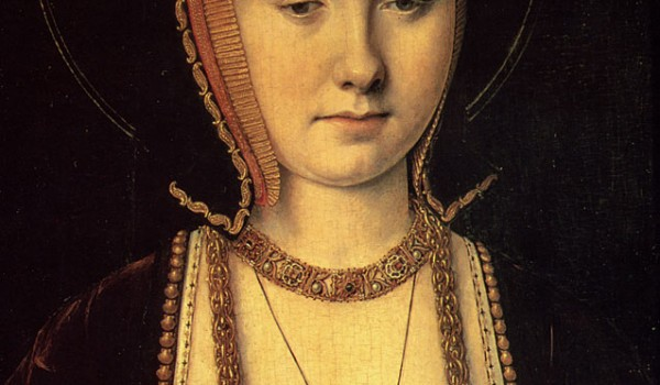 1514 - Catherine of Aragon by Michel Sittow via Wikimedia Commons