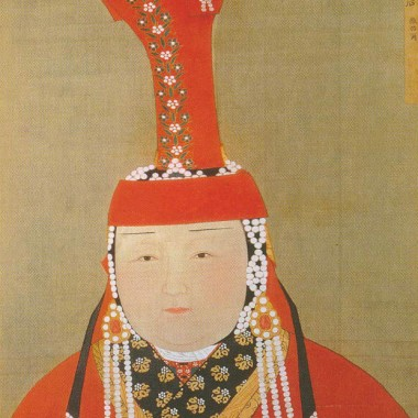 Portrait of Kublai Khan's favorite wife, Empress Chabi.