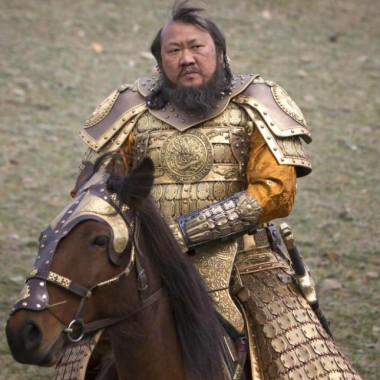 Kublai Khan in armor.