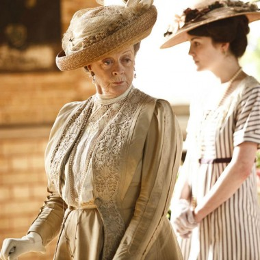 The Dowager Countess in all her Victorian glory.