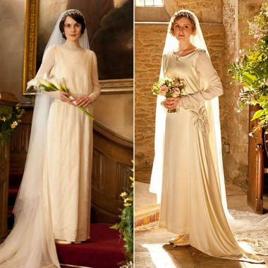 A tale of two Downton brides...