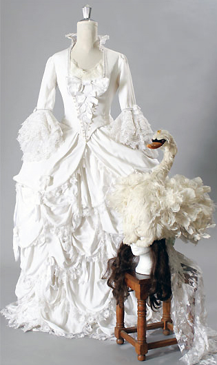 "Costume worn by Elizabeth Berridge at the party in ""Amadeus"" (1984)."