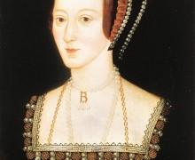 Anne Boleyn, late 16th-century copy of a lost original of c. 1533-1536. National Portrait Gallery.