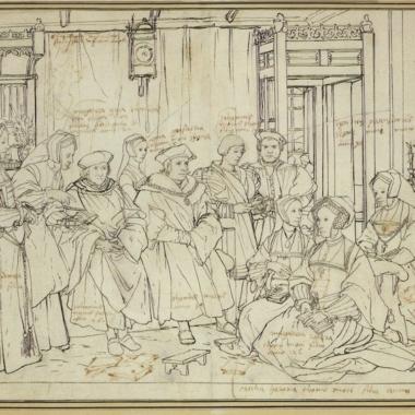 Study for the Family Portrait of Thomas More by Hans Holbein, c. 1527, Kupferstichkabinett, Öffentliche Kunstsammlung, Basel