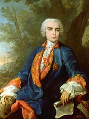 Corrado Giaquinto, Portrait of Farinelli (detail), 1755. Via Wikimedia Commons