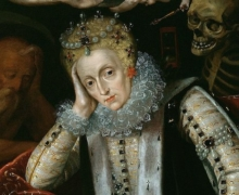 Queen Elizabeth I (1538-1603) in Old Age, c_1610 (oil on panel), English School, (17th century) Corsham Court, Wiltshire