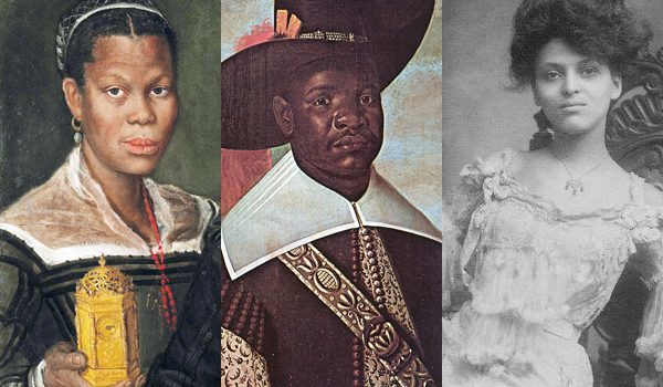 1580s, African Slave Woman by Annibale Carracci; 17thc., Dom Miguel de Castro by Albert Eckhout; 1890s American photo