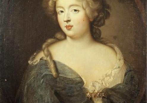 """Portrait of Madame de Montespan,"" mistress to Louis XIV, c. 1675, via Wikimedia Commons."