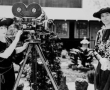 May Allison with Helen Taft and a motion picture camera | Library of Congress
