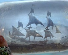 Pirates of the Caribbean - ship in a bottle