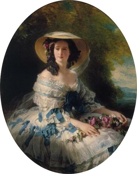 Franz Xaver Winterhalter, Eugénie of Montijo, Empress of France, 1857, Hillwood Museum