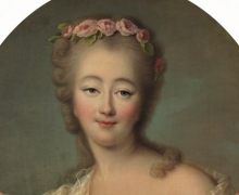 Portrait of Madame du Barry by François-Hubert Drouais, 1770, Museo del Prado