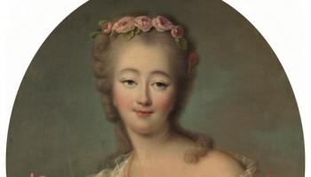 Portrait of Madame du Barry by François-Hubert Drouais, 1770, Museo del Prado