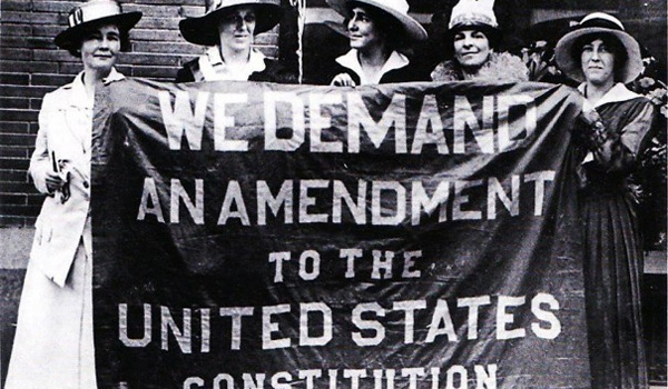 We demand an amendment to the United States Constitution - suffragists