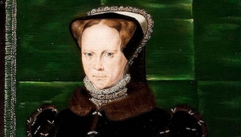 Portrait of Mary I of England by Hans Eworth, 1555-58, Dickinson Gallery, London and New York