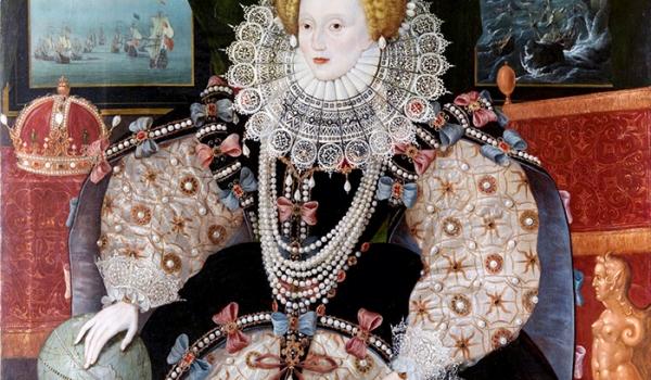 1588 - Elizabeth I, Armada portrait, Drake version